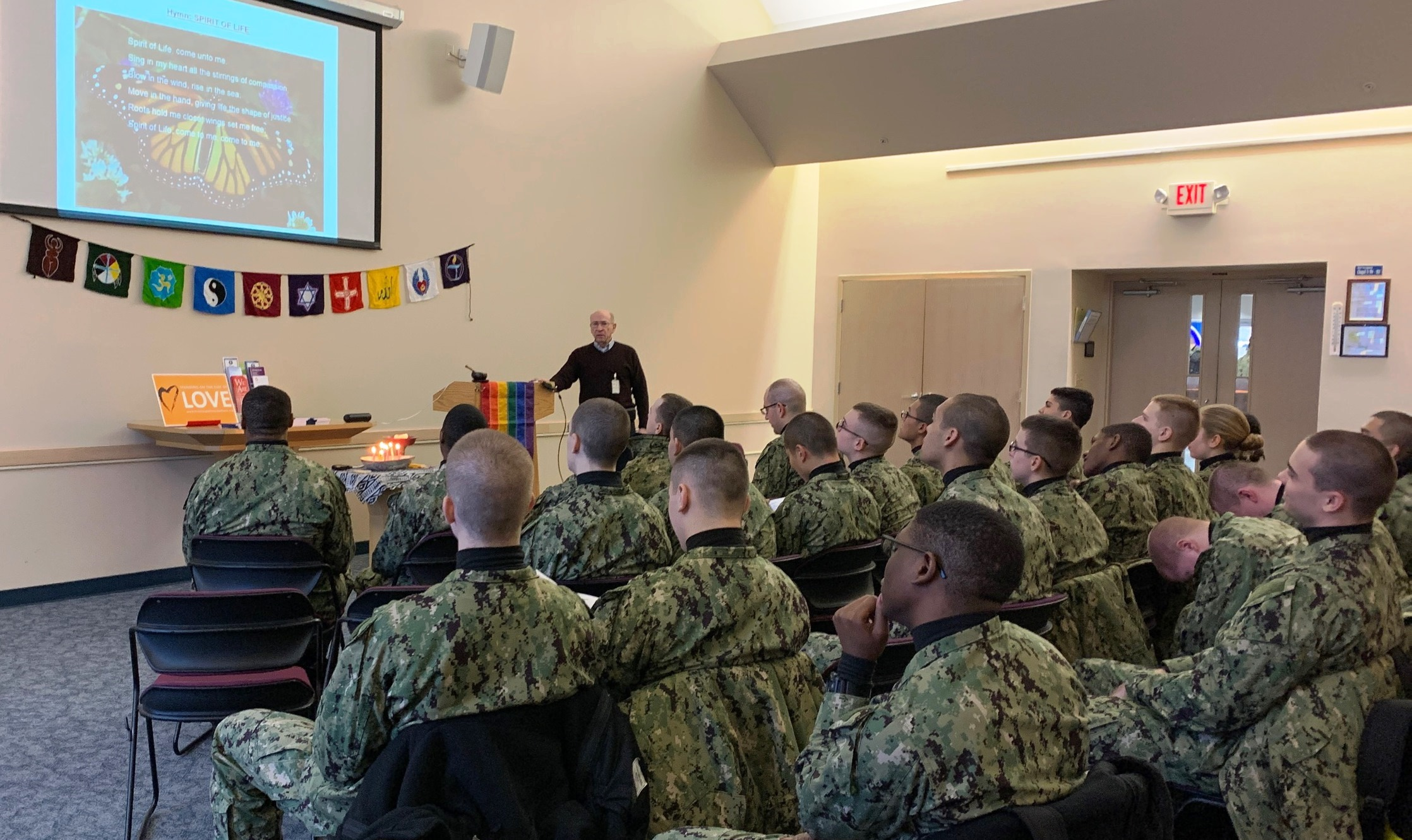 UU service at Navy Boot Camp - Feb 9 2020
